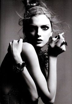 Lily Donaldson by Greg Kadel..    Rembrandt Lighting and directional lighting wonderfully executed!