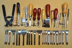 Leather-craft Kit de costura a mano de cuero herramienta Set / Groover Punzón Punch - 40 Juegos in Artesanías, Artes y artesanías para el hogar, Trabajo en cuero, Herramientas y tratamiento de cuero | eBay