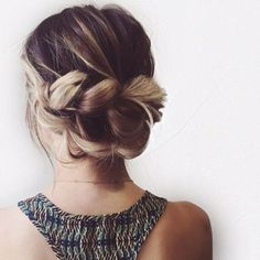 twisted and bunned updo