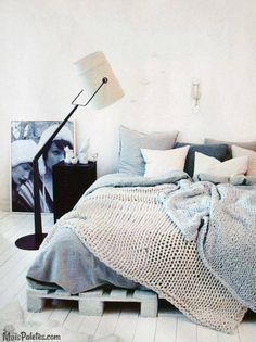 Seja feliz numa cama de pallet