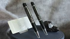 The METEORITE Pen, ballpoint pen, moon dust, certificate of authenticity, NASA, apollo, gemini, mercury, handcrafted, campo del cielo