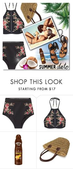 """""""Summer Beach Date"""" by anilovic ❤ liked on Polyvore featuring Zimmermann, Rosetta Getty, Hawaiian Tropic, beach and summerdate"""