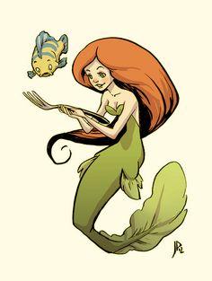 The Little Mermaid by Jake Parker, via Flickr