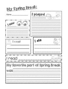 Spring Break Writing