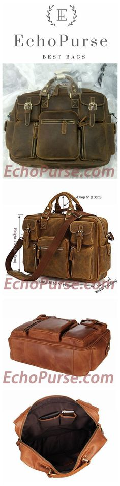 Top Grain Leather Briefcase, Conference Messenger Bag, Business Laptop Bag 7028
