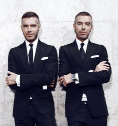 The two men behind Dsquared2 are not only brothers, but identical twins Dean and Dan Caten. Description from firstclassfashionista.com. I searched for this on bing.com/images