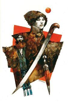 Illustrazione matita, china e acqurello su carta da disegno cm 35x50
