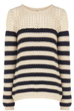 Oasis Cotton Stripe Jumper