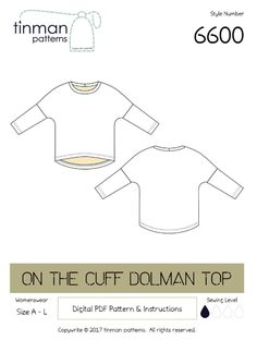 Free Sewing Pattern: On The Cuff Dolman