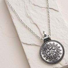 One of my favorite discoveries at WorldMarket.com: Silver Ancient-Style Pendant Necklace