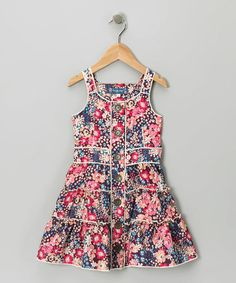 Take a look at this Purple Floral Tiered Dress by Truly Me on #zulily today!