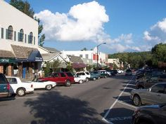 One of my favorite places to be, Highlands, North Carolina. If you look really hard, you can almost see the Kilwin's chocolate shop down the street. Okay, you can't actually see it, but trust me, it's there.