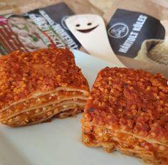 Sütőtökös-köleskolbásszal töltött lasagne