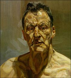 No one combines paint and flesh quite like Lucian Frued.