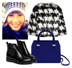 Pied-de-poule & blue by stefania-fornoni on Polyvore featuring polyvore, fashion, style and MICHAEL Michael Kors