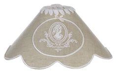 Abat-jour camée Blanc Mariclo