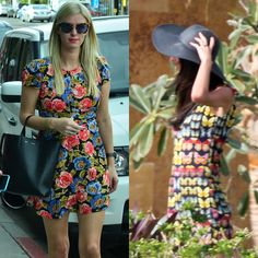 Prints with Panache - The winter holidays are not all cold climates, frosty city vacations, and wind-whipped airports. Stars like Amal Clooney and Nicky Hilton are having fun in the sun with their fashion choices. Clooney slipped into a girly Versace frock with butterflies and a Helen Kaminski sun hat in Mexico with husband George, while Nicky Hilton focused on florals in Los Angeles.