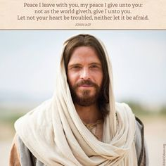 """""""Peace I leave with you, my peace I give unto you: not as the world giveth, give I unto you. Let not your heart be troubled, neither let it be afraid"""" (John 14:27). lds.org/scriptures/nt/john/14.27#p26 Learn more about #JesusChrist facebook.com/173301249409767 and enjoy more from the #HolyBible facebook.com/212128295484505. #ShareGoodness"""