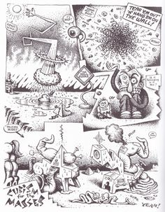 Cubism explained for the masses by R. Crumb