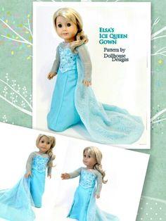 American girl doll Elsa dress.