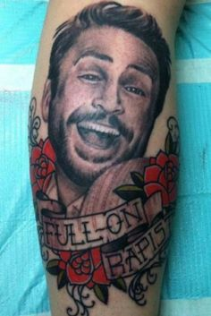 Charlie tattoo. Whoever got this is really, truly my hero. It looks like dirt nasty