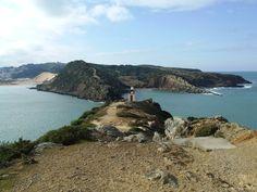 Lado sul da barra de S. Martinho - no lado de Salir do Porto. Portugal