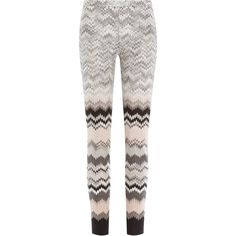 Missoni Knit Leggings ($360) ❤ liked on Polyvore featuring pants, leggings, bottoms, multicolor, none, knit pants, slim fit ski pants, white pants, thick leggings and slimming leggings