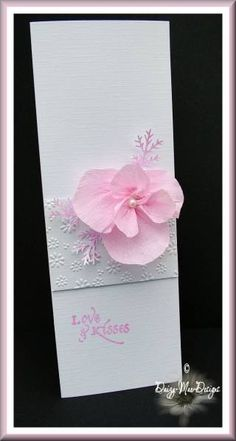 Pink flower card by Daizy-Mae - Cards and Paper Crafts at Splitcoaststampers