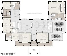 U Shaped House Plans with Courtyard Pool Lovely Floor Plan Friday U Shaped 5 Bed. U Shaped House Plans with Courtyard Pool Lovely Floor Plan Friday U Shaped 5 Bedroom Family Home U Shaped House Plans, U Shaped Houses, Big Houses, Dream Houses, Family Houses, The Plan, How To Plan, Layouts Casa, House Layouts