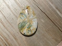Pendant Bead  Agate Bamboo Stone by WireWrapper on Etsy, $6.95