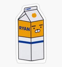 RYAN Milk Carton Sticker
