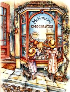 McKenzie's Chocolates by Kim Jacobs ~ children at candy shop