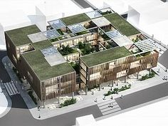 Proje Raporu Architecture Concept Drawings, Green Architecture, Architecture Student, Architecture Design, Compound Wall Design, Hospital Design, Residential Complex, Plan Design, Building Design