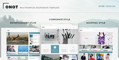 awesome Onot - Multipurpose HTML5 Template (Company)