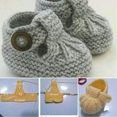 Riemenbooties Stricken Und Häkeln Für Babys, Hausschuhe Stricken, Schuhe  Häkeln, Socken Stricken,