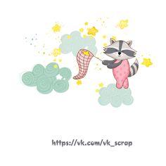 Картинки для детских работ, енот