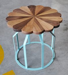 Turkish industrial designer, Begum Celik, has designed this cute side table collection entitled Diana & Dean.