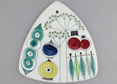 A large Rorstrand Picknick wall plaque. Quick plate. 1950 s Scandinavian design