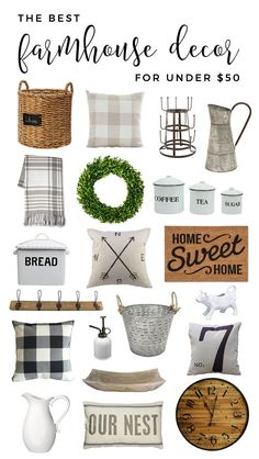 Find the best farmhouse decor under $50--from Amazon and Target!