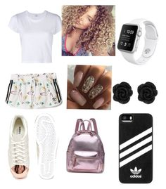 """""""Out with the girls"""" by chassymartin on Polyvore featuring adidas and RE/DONE"""