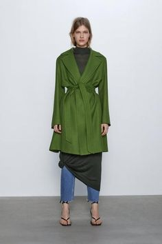 Long sleeve coat with lapel collar, front welt pockets and front closure with belt made of matching fabric. HEIGHT OF MODEL: 177 cm. Odd Molly, Streetwear, Long Knit Cardigan, Cool Style, My Style, Belted Coat, Grunge Fashion, Boho Grunge, Ideias Fashion