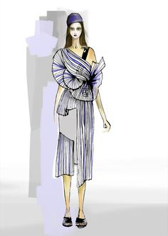 Noa Raviv graduate collection collection de fin d'étude 2015 impression 3D croquis de mode