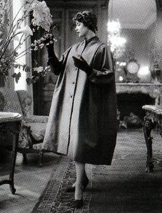 A Dior model at the Hôtel Plaza Athénée in Paris in 1949. Christian Dior and his photographer, Willy Maywald, regularly shot models in and around the hotel.