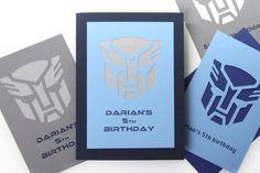 Custom Transformer Birthday Invitations -set of 12 by ShadesOf4ever on Etsy https://www.etsy.com/listing/212489906/custom-transformer-birthday-invitations