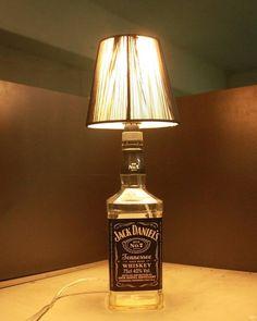 LED Table Lamp Jack Daniels Liquor Bottle Table Lighting With Linen Shade for Living Room Decoration Free Shipping WJTL001