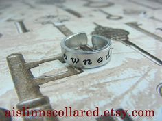 Owned Handstamped Ring by aislinnscollared on Etsy