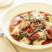 Sausage & Tortellini Stew - Slow cooker meal.  No precooking of sausage needed. 11/12 - This was so tasty and comforting.  Whole family enjoyed.  Subbed peas for green beans.