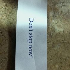 Fortune cookie says...