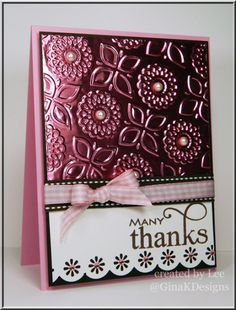 Many Thanks - using Lots of Lines by Beth Silaika