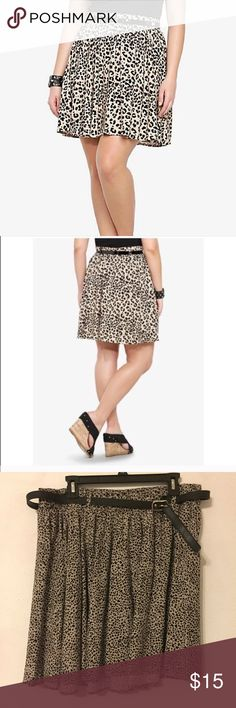 Torrid Leopard Skater Skirt Has pockets! torrid Skirts
